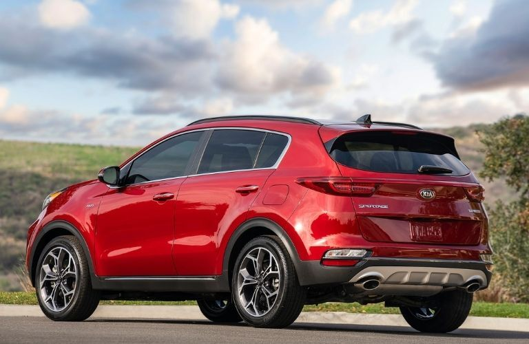 2021 Kia Sportage side and back view