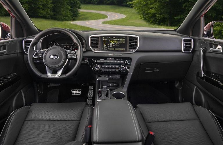 2021 Kia Sportage dashboard view from inside
