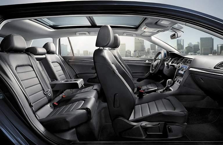 Volkswagen Golf Sportwagen spacious interior seating area.