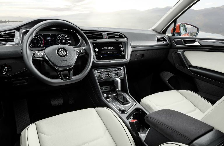 2018 VW Tiguan Front Seat Interior and Dashboard