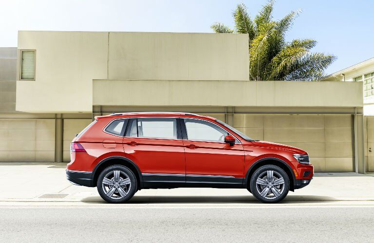 Red 2018 VW Tiguan Side Exterior