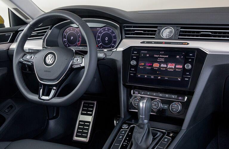 Interior front cockpit of a 2019 Volkswagen Arteon.