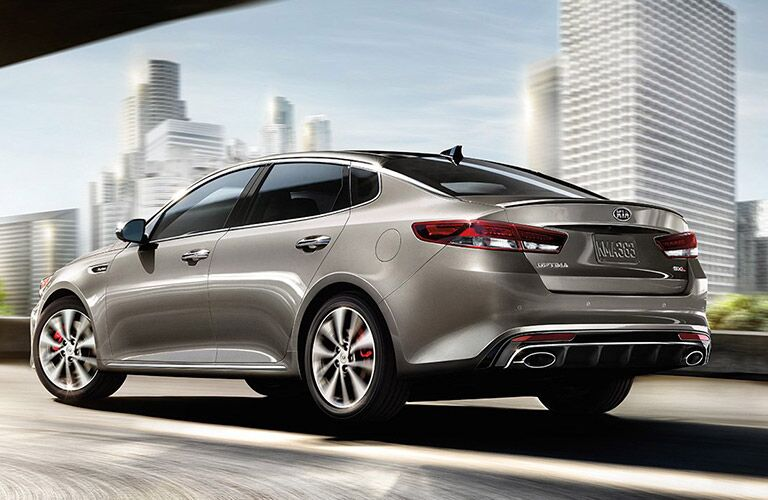 2017 Kia Optima exterior rear and side view