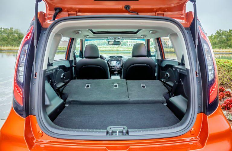 2018 Kia Soul Interior Cabin Seats Folded Cargo Area