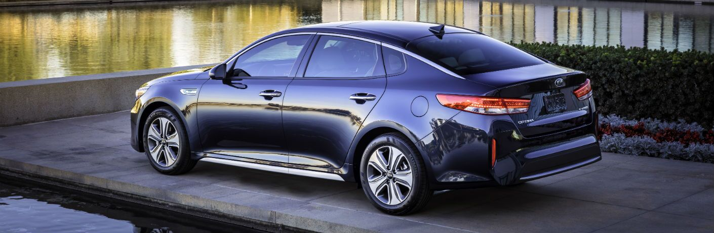 2019 Kia Optima Hybrid Exterior Driver Side Rear Angle