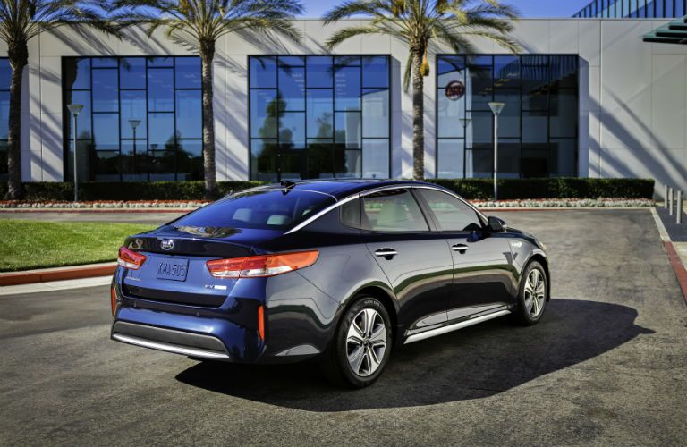 2019 Kia Optima Hybrid Exterior Passenger Side Rear Angle