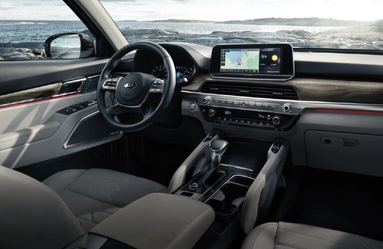 Front interior in the 2020 Kia Telluride