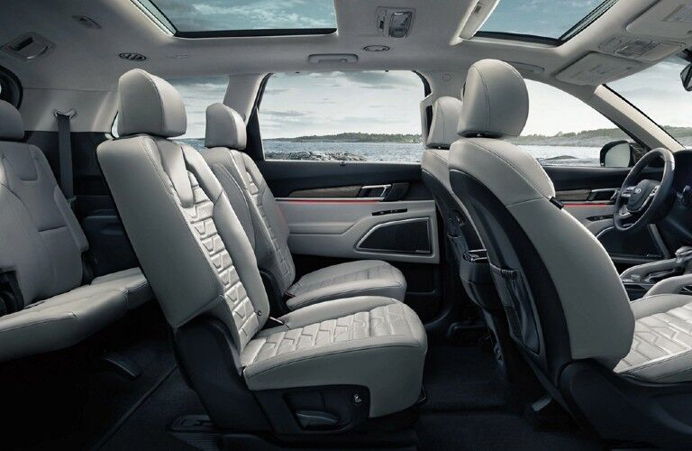 Seats inside the 2020 Kia Telluride