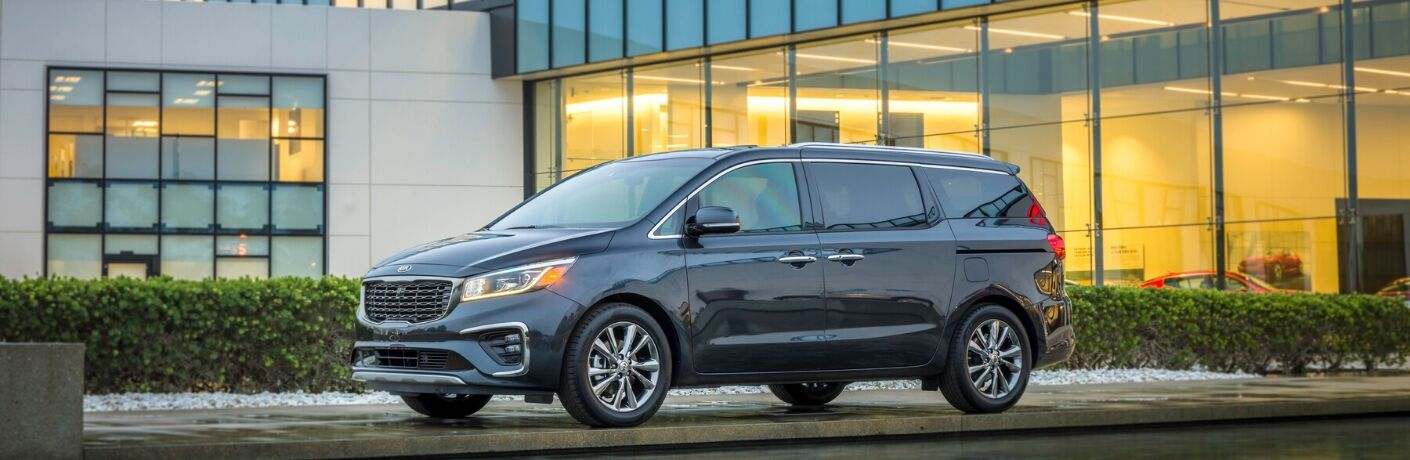 2020 Kia Sedona parked in front of house