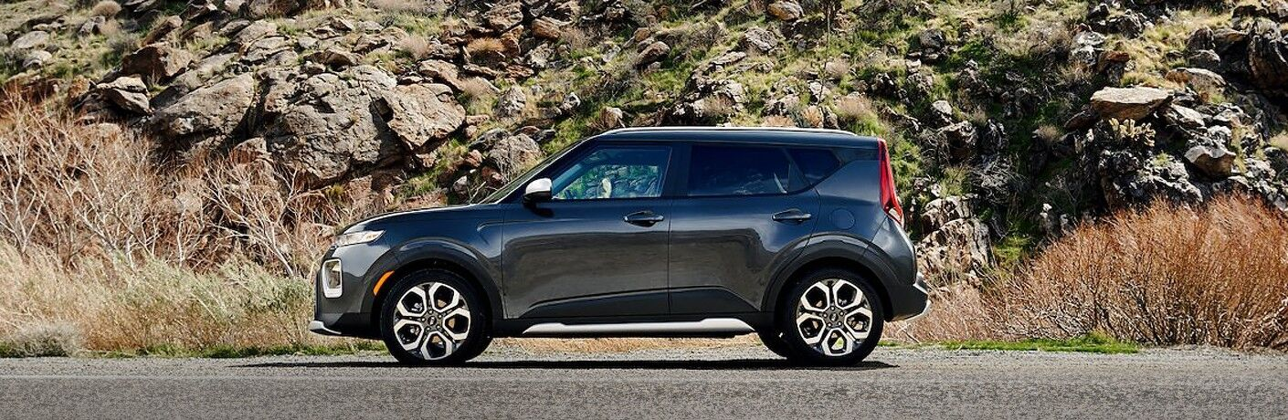 2021 Kia Soul from exterior driver's side with nature in background