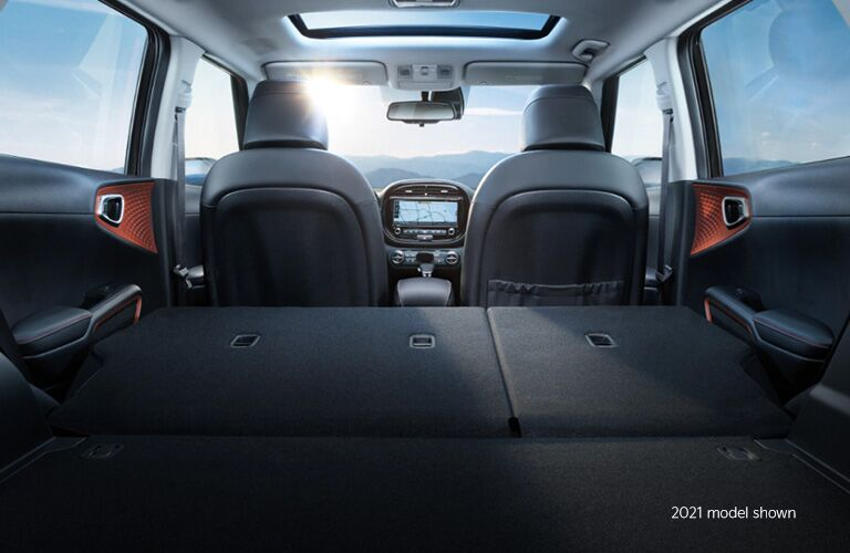 2021 Kia Soul view of cargo space and seats