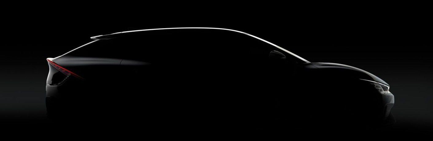 2022 Kia EV6 outline from passenger side