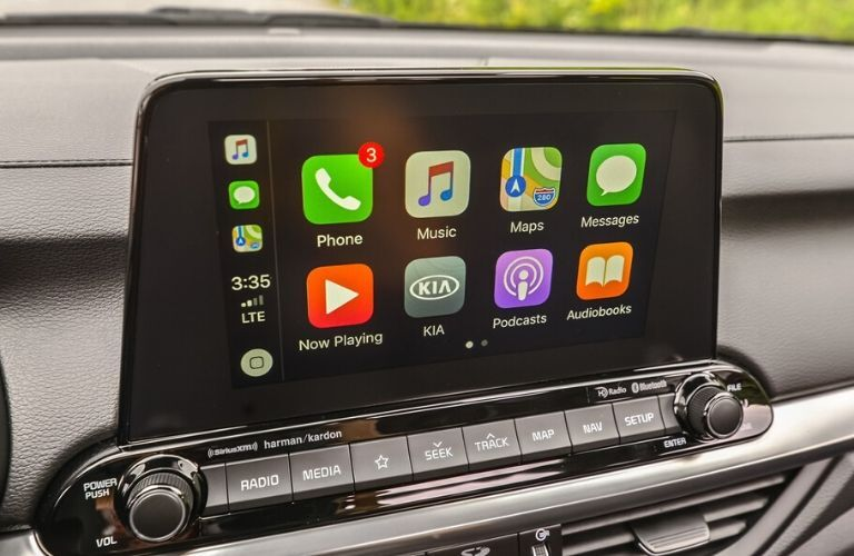 Apple CarPlay display on 2020 Kia Forte