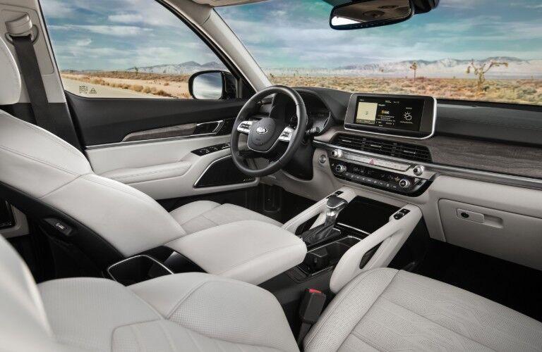 Interior front dash of 2021 Kia Telluride
