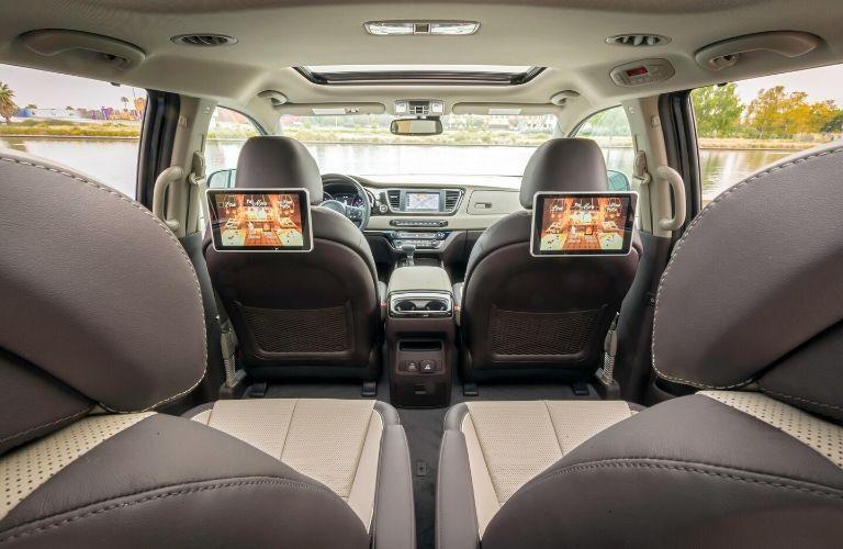 Interior seats in 2020 Kia Sedona