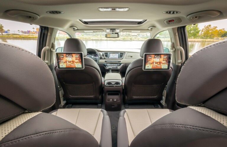 Rear Seat Entertainment System in the 2021 Kia Sedona