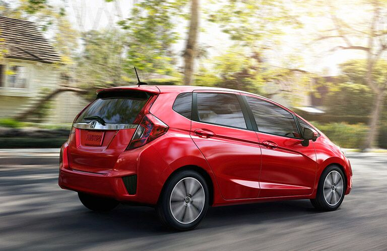 2016 Honda Fit EX-L Side View Red