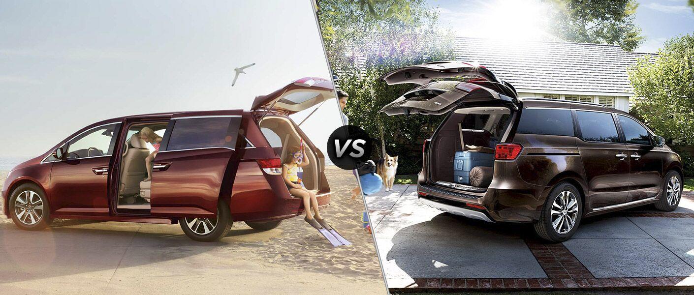 2016 Honda Odyssey Touring vs 2016 Kia Sedona SXL