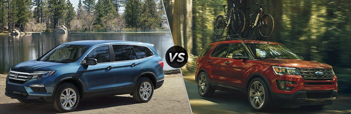 2016 Honda Pilot vs 2016 Ford Explorer