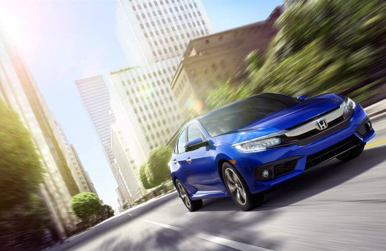 2016 Honda Civic sedan in blue