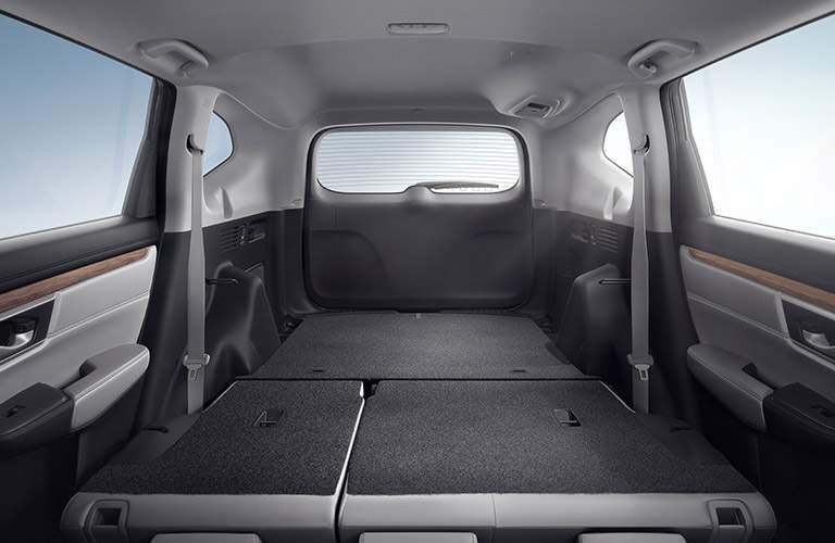 rear seats folded down cargo space of 2017 Honda CR-V