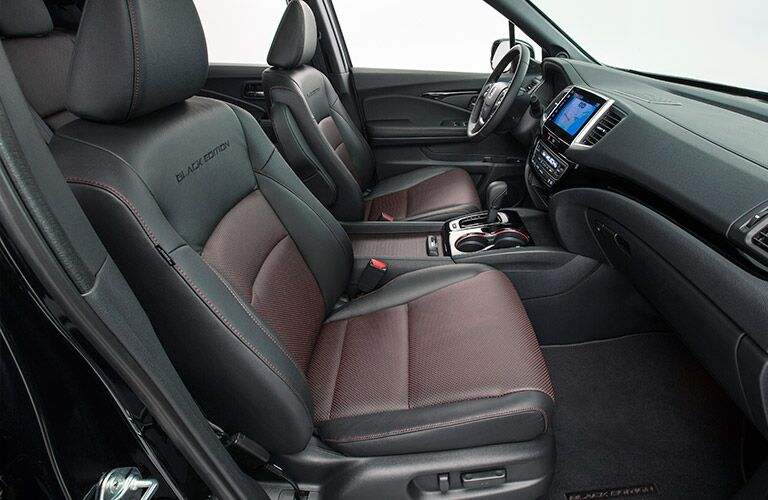 2017 Honda Ridgeline two tone leather interior