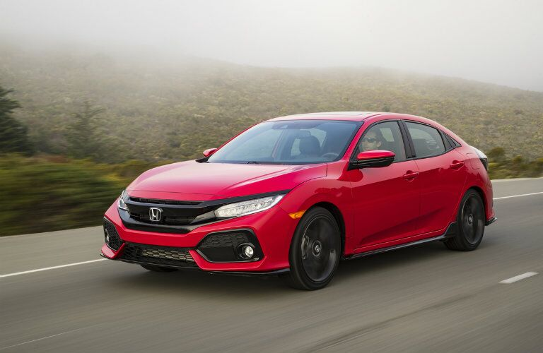 2017 Honda Civic Hatchback Red Exterior Color