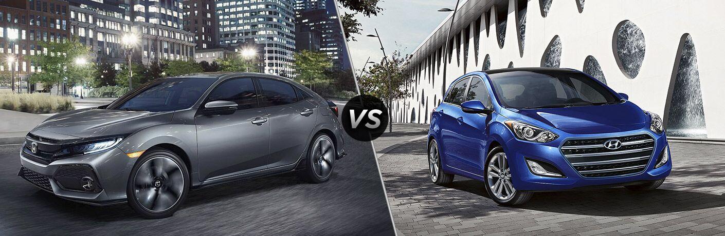 2017 Honda Civic Hatchback Sport vs 2017 Hyundai Elantra GT