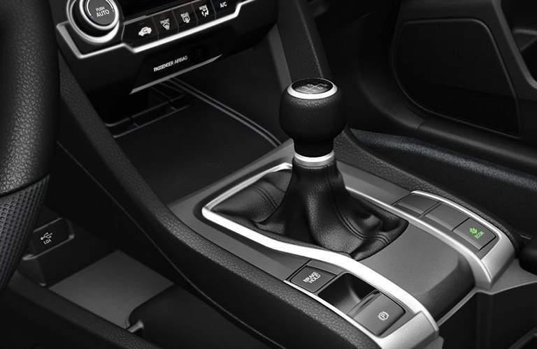 Shift knob on the 2017 Honda Civic EX-L