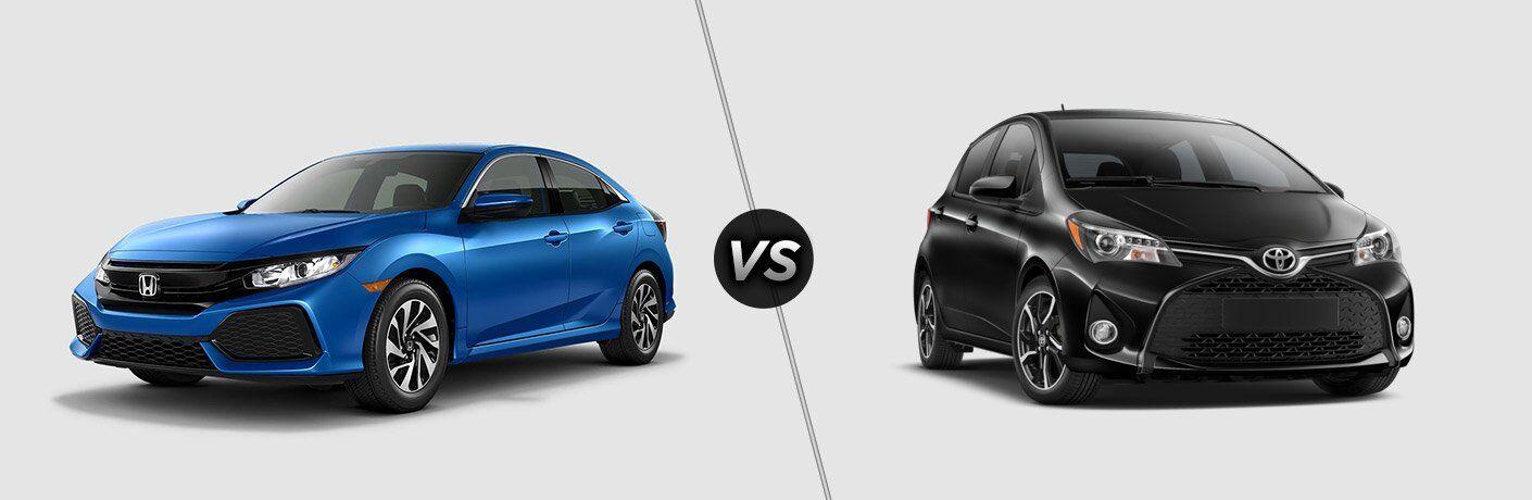 2017 honda civic hatchback vs 2017 toyota yaris