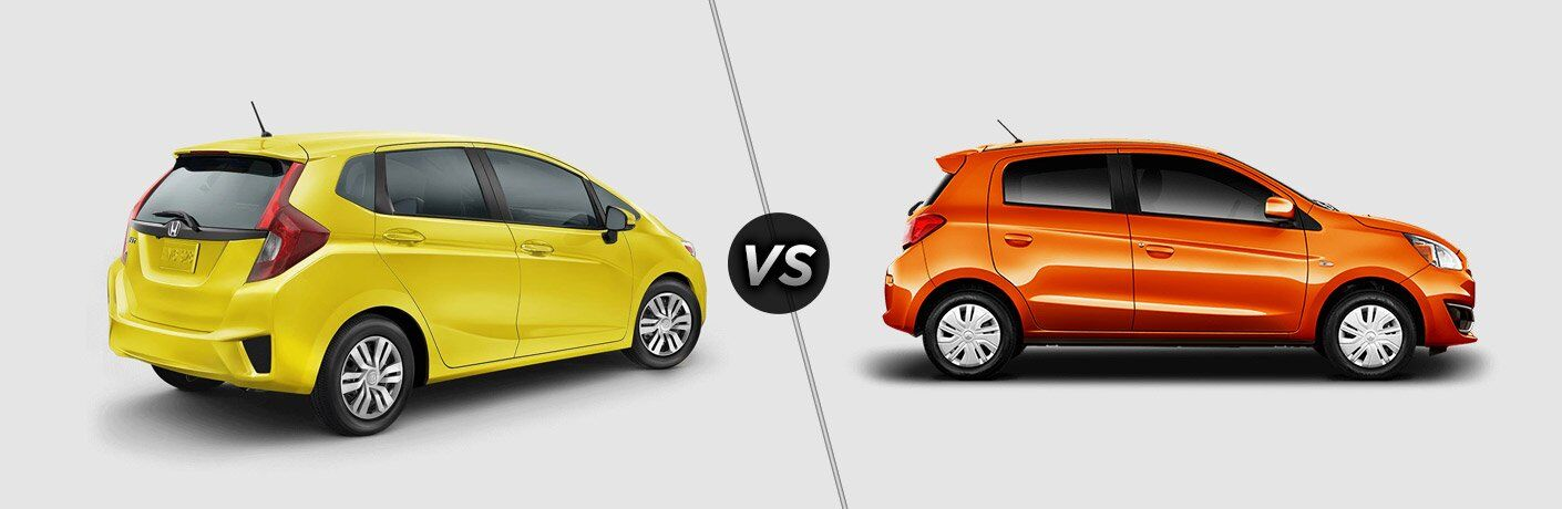 2017 honda fit vs 2017 mitsubishi mirage