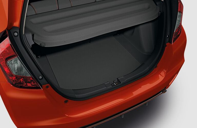 Rear cargo space of the 2018 Honda Fit