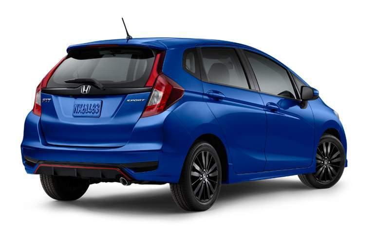 blue 2018 Honda Fit exterior rear