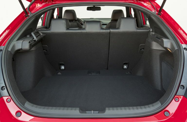 View of the standard cargo area of the 2018 Honda Civic Hatchback