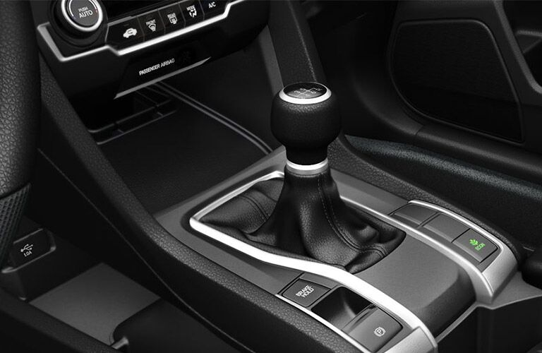 Manual shift knob and electric parking brake of the 2019 Honda Civic Sedan