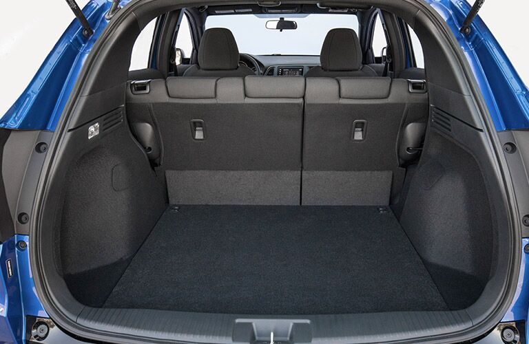 Rear cargo area of the 2019 Honda HR-V