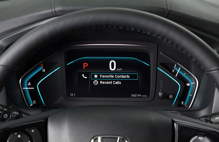 Driver information cluster of the 2019 Honda Odyssey