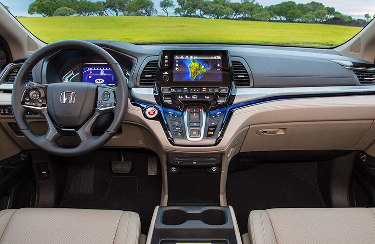 Driver's cockpit of the 2019 Honda Odyssey
