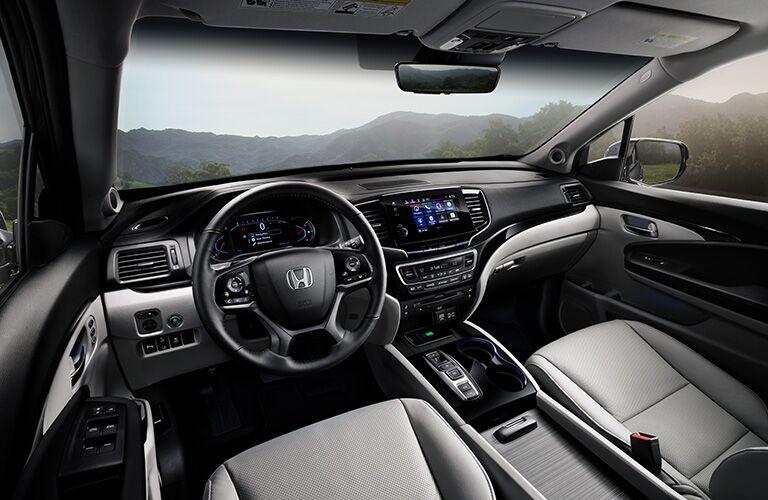 Driver's cockpit of the 2019 Honda Pilot
