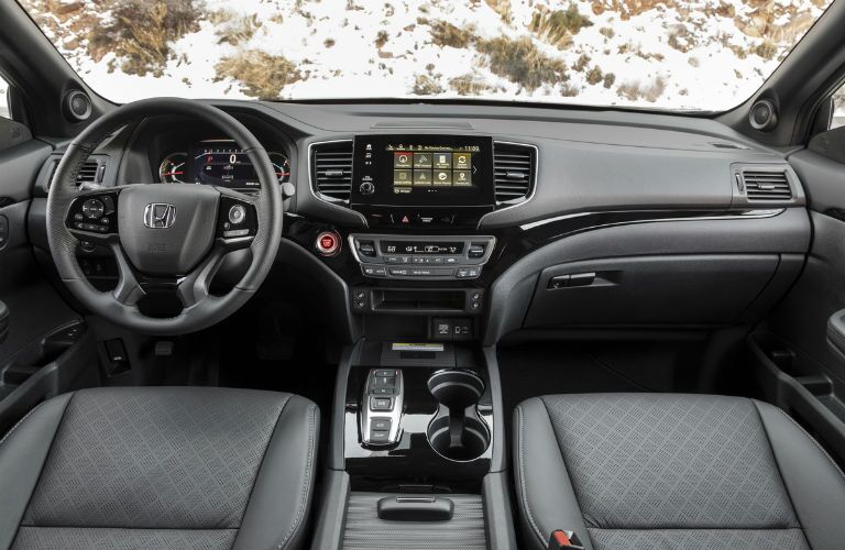 Driver's cockpit of the 2019 Honda Passport
