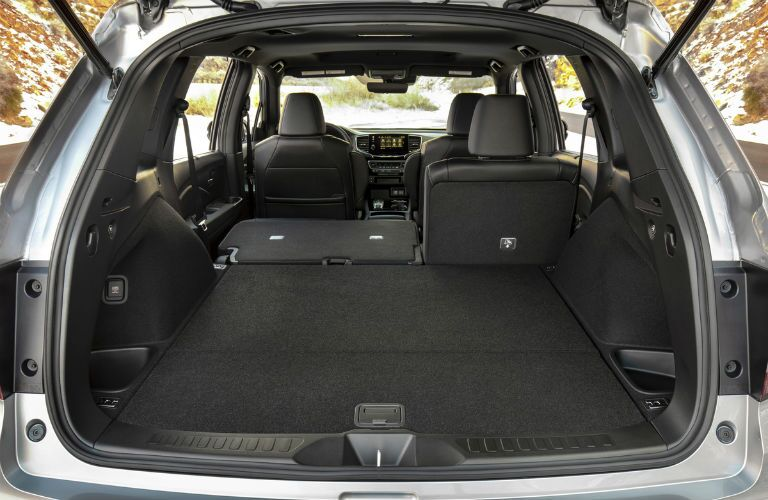 Rear seat split-folded in the 2019 Honda Passport