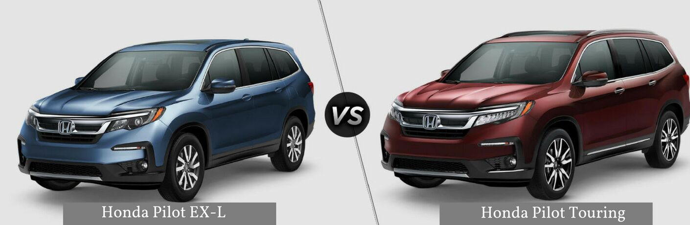 Honda Civic Vs Accord >> 2019 Honda Pilot EX-L vs 2019 Honda Pilot Touring