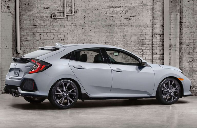 2017 Honda Civic Hatchback Sport Side View Features