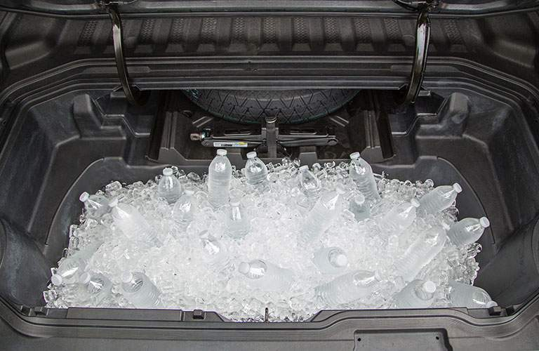 The in-bed trunk of the 2018 Honda Ridgeline being used as a cooler