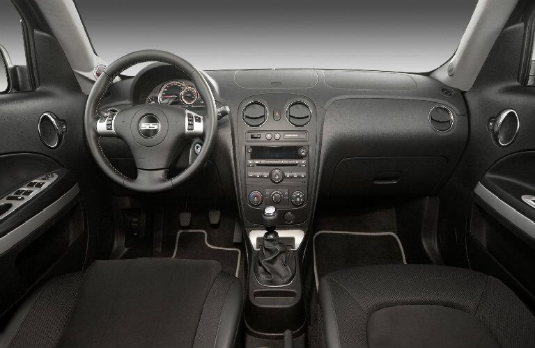 2009 Chevrolet HHR interior front seating, steering wheel, and dashboard