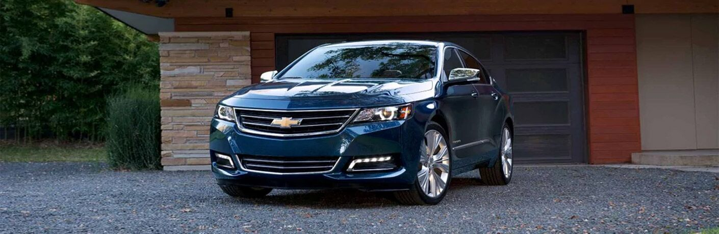 2017 Chevy Impala in blue