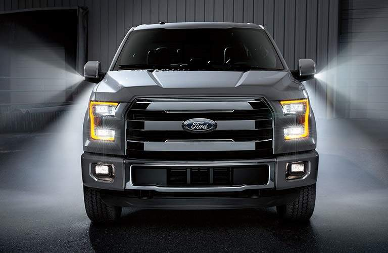 front view of a silver 2017 Ford F-150