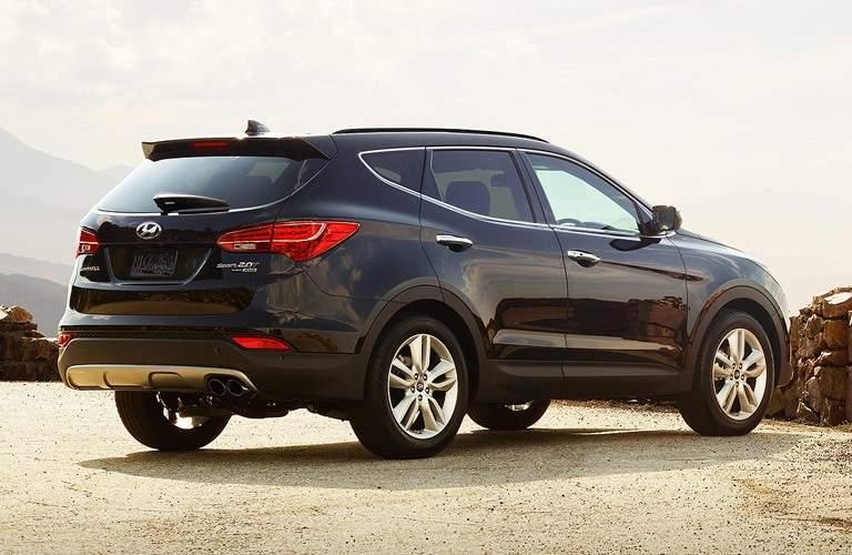 2016 Hyundai Santa Fe Sport parked overlooking landscape