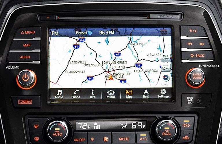 navigation system in 2016 nissan maxima