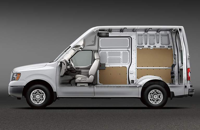 2018 Nissan NV150 profile X-ray view